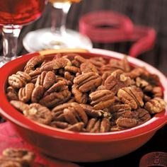 Pecans Diablo - The spices in this recipe showcase pecans in a whole different light. This is a great snack for any party, but the heat suits the cool and crisp evenings during the Halloween season well. —Taste of Home Test Kitchen
