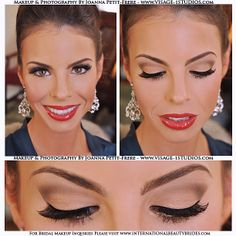 Makeup hair done by boudoir belle boudoir belle pro this is my most requested glamour contour bride makeup look on the beautiful bride kristin shimmering nude eye shadow with a dark brown contour in the ccuart Gallery