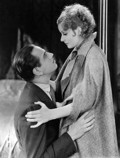 """Loving her like she was a Godess.... Greta Garbo with Melvyn Douglas, """"As You Desire Me""""."""