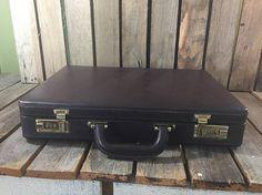 Vintage Briefcase/Vintage Suitcase/Leather Briefcase/Vintage
