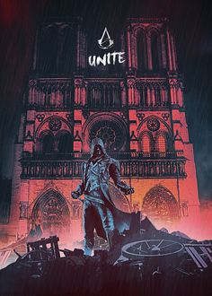 Assassin's Creed Unity Poster Assassin S Creed Unity, Assassins Creed Series, Assassins Creed Origins, All Assassin's Creed, Assasing Creed, Assassin's Creed Chronicles, Assassin's Creed Black, Connor Kenway, Arno Dorian