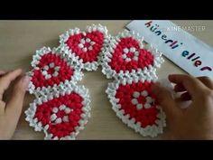 Kalp kalbe karşı lif yapılışı - YouTube Crochet Earrings, Fancy, Youtube, Jewelry, Design, Star Shape, Embellishments, Carpet, Wool Yarn