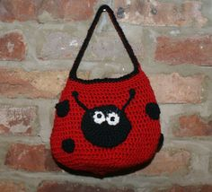 Girls purse, Girls bag, ladybug purse.  By Roxie and Ben designs.  For sale on Etsy, $30