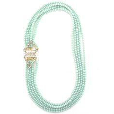 An Overlap in Opulence necklace by Elva Fields