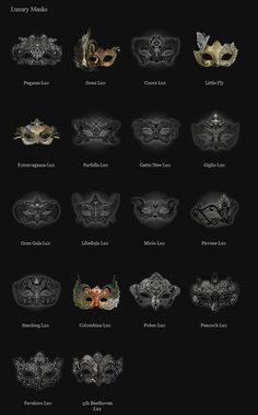 Venetian masks. Yeah a lot of masks; but I've got character plans for these!