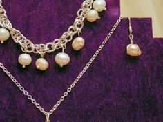 Freshwater Pearls Handmade in a Chainmail Bracelet by DizzyDrakes