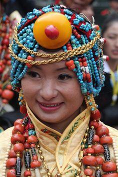 Palyul, Tibet (or Baiyu, Sichuan in Chinese) traditional ceremonial dress at 2010 Karze 60th anniversary celebrations in Kangding...   Khampa Tibetan Lady in Kangding (Dartsedo), Kham, Tibet