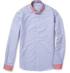 Arles contrast-trim striped cotton shirt. By Etro via Mr Porter.
