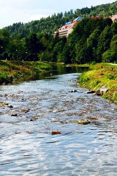 Wisła, hotel Gołębiewski, rzeka, river