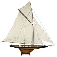 America's Cup Columbia Model Ship. Fully Assembled. Guaranteed Best Price plus FREE Shipping.