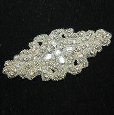 Rhombus applique, Wedding dress applique, Wedding applique, Iron on applique, Sew on applique, Headband applique, Hair comb applique on Etsy, $12.99
