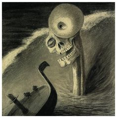 05. ALFRED KUBIN - TERROR - Fright , 1901 pen, ink, wash  and crachis