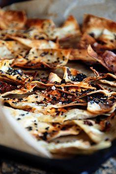 Savoury Lavash Crackers.
