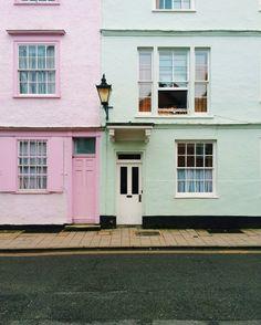 Pastel colored houses. | wanderflow | VSCO Grid