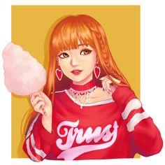Lisa from blackpink k-pop fanart lalisa, blackpink, blakpink Blackpink Lisa, Kpop Drawings, Cute Drawings, Kpop Girl Groups, Kpop Girls, Character Art, Character Design, Lisa Blackpink Wallpaper, Black Pink Kpop