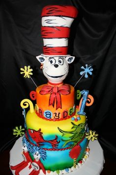 Dr. Suess cake By bethygee on CakeCentral.com