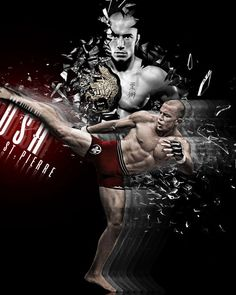George St. Pierre (GSP), my fav MMA fighter! He is a bad bad man.