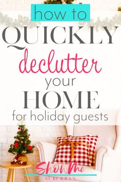 Have guests coming for Thanksgiving, Christmas, or new year's? The need to declutter your home quickly before guests arrive might leave you feeling overwhelmed. Simplify the decluttering process with these tips and ideas to organize important areas of y New Years Eve Traditions, Thanksgiving Traditions, Emotional Clutter, Entryway Organization, Organized Entryway, Organized Kitchen, How To Clean Copper, Entry Closet, Declutter Your Life
