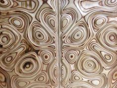"""New design for my old TV cabinet doors. I created smooth low high relief then it milled with CNC machine. I have made it from plywood. I call it """"Liquid plywood style"""". I see that this technique with plywood looks very interesting. I'm still work. Plywood Art, Plywood Panels, Plywood Furniture, Furniture Design, Art Furniture, 3d Cnc, Cnc Woodworking, Cabinet Doors, Wood Paneling"""