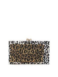 Pandora leopard-print clutch | Charlotte Olympia | MATCHESFASH...