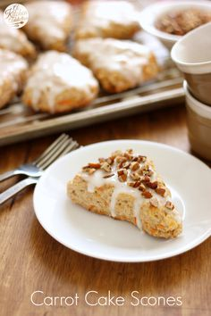 Carrot Cake Scones l www.a-kitchen-addiction.com