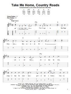 John Denver 'Take Me Home, Country Roads' Sheet Music, Notes & Chords John Denver Take Me Home, Country Roads sheet music notes and chords for Easy Guitar Tab Guitar Chords And Lyrics, Music Theory Guitar, Guitar Chords For Songs, Guitar Sheet Music, Sheet Music Notes, Guitar Lessons, Guitar Tabs Acoustic, Piano Sheet, Electric Guitar Chords