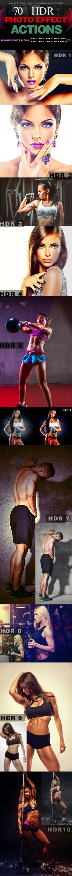 70 HDR Photo Effect Action — Photoshop ATN #best #fashion • Available here → https://graphicriver.net/item/70-hdr-photo-effect-action/19205888?ref=pxcr