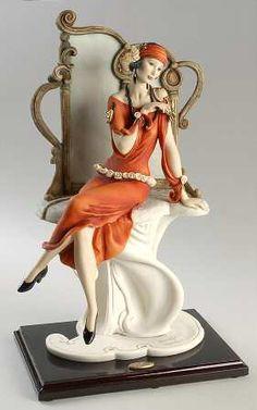 Armani, Armani Figurine - Page 1 Porcelain Jewelry, Fine Porcelain, Porcelain Vase, Armani Collection, Indian Dolls, Art Deco Buildings, 1920s Art, China Sets, Royal Doulton