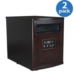 Decor Flame Infrared Heater, Cappuccino 2-Pack Bundle