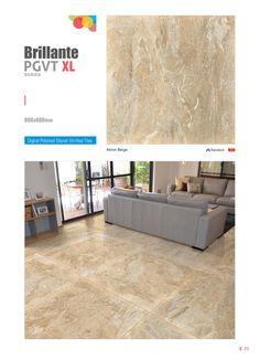 "Millennium Tiles 800x800mm (32x32) PGVT Vitrified Porcelain XL Tiles Series ""Akron Beige-Random"""