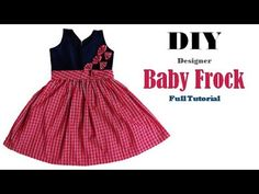 c4c8aa5bc (5) DIY Designer Beautiful Baby Frock for 1to 2 year Cutting And Stitching  full