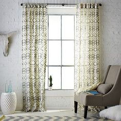 Tali Printed Window Panel westelm