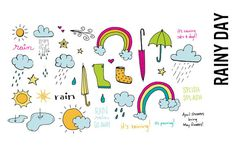 Rainy Day Doodle Illustrations by Pepper on Creative Market