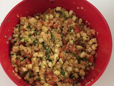 lentilles corail, tomate, courgette, cumin, citron, huile d'olive