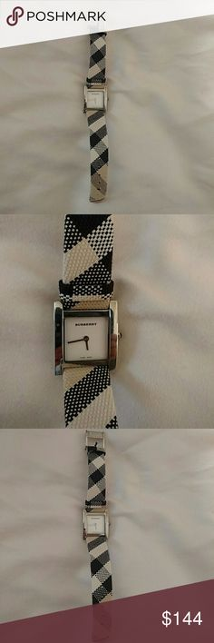Burberry watch Brand new, never worn white and black Burberry watch NWOT Reasonable offers accepted :) Burberry Accessories Watches
