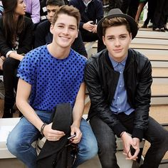 Handsome boys. Finn and Jack Harries