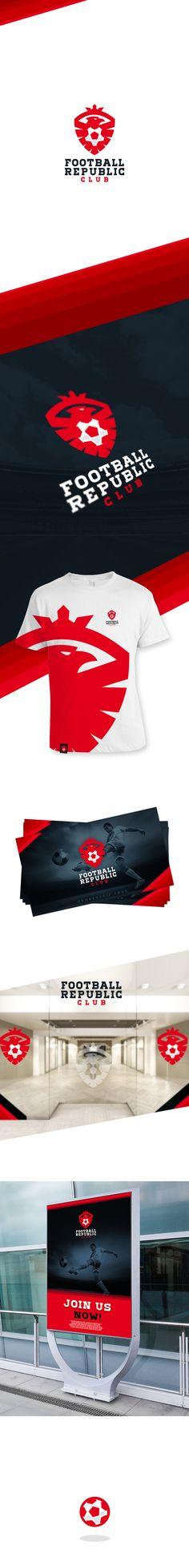 Football Republic Club by Karol Sidorowski, via Behance -- great logo / brand design for soccer!