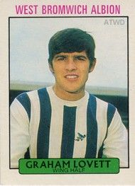 Graham Lovett of West Brom in 1969. West Bromwich Albion Fc, Chewing Gum, Graham, 1960s, Football, Baseball Cards, Soccer, Futbol, Sixties Fashion