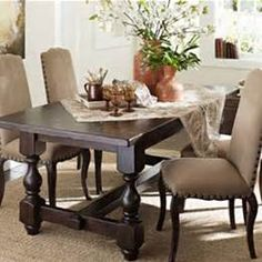 cortona extending dining table #potterybarn. can't wait to get