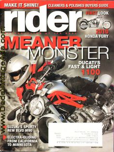 2009 March Rider #motorcycle magazine – #Ducati Monster 1100