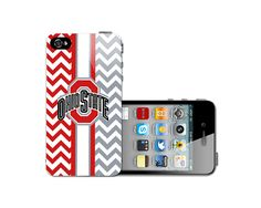 Red & Red Gray Ohio State Chevron iPhone 4, iPhone 4S, iPhone 5 , iPhone 5S Hard Back Case Cover on Etsy, $8.99