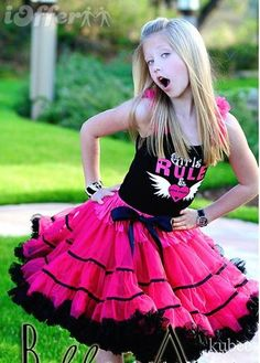 """A little more grown-up tutu perfect for tweens - """"Girls Rule"""" could be altered to fit almost anything"""