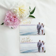 Oh So Beautiful Paper: Natalia + Chris's Wedding Announcement Postcards