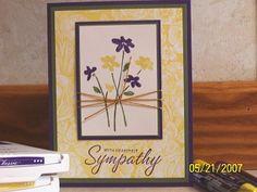 Sympathy Swap card using Stampin Up Close as a Memory