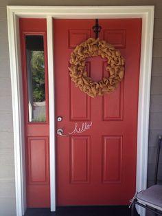 HandDrawn Hello. Front Door Vinyl Decal. by WelcomingWalls on Etsy  This is my front door!!
