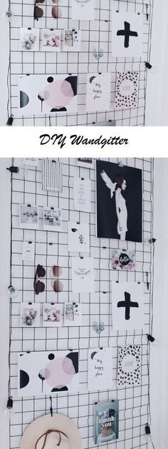 decor diy office DIY Wandgitter selber machen - Wozu ein Estrichgitter auch noch gut ist - Boho and Nordic Decoration Bedroom, Diy Wall Decor, Diy Home Decor, Diy Wand, Diy Tumblr, Diy Interior, Mur Diy, Tumblr Rooms, Diy Décoration