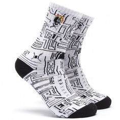 The Hundreds Trical Socks (White Geo) $9.95 The Hundreds, Cool Socks, Geo, Cool Stuff, Accessories, Ideas, Style, Fashion, Swag