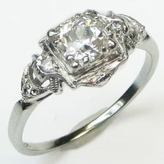 Arc Light: Get a handle on this exceptional ring. It will light your way! Ca 1930. Maloys.com