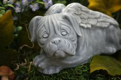 Boxer Dog  Angel   Mastiff Pet Memorial Concrete by PhenomeGNOME, $34.99