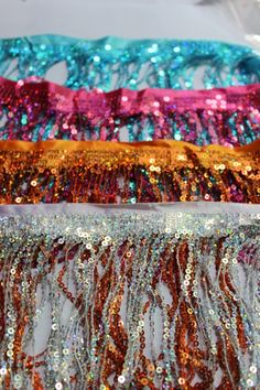 Cheap tassel fabric, Buy Quality sequin tote directly from China sequin curtain Suppliers: 30 cm long Rayon Fringe tassel lace loop bottom trimming Mixed Color for latin dress samba wear tie dye gradient  30cmUS